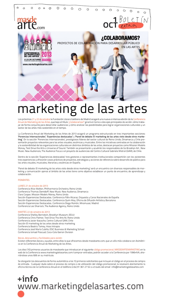 Conferencia de marketing de las artes 2013 - Colaboratorio Arte