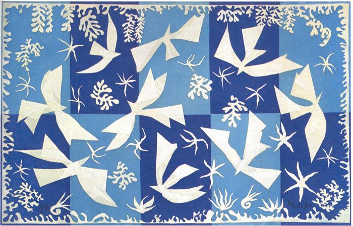 Polinesia, The Sky  Musée des Gobelins, Paris 197 x 315 cm. 1947 fuente: http://www.henri-matisse.net/
