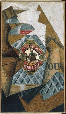 La Bouteille d'Anis un'opera de Juan Gris, fuente: http://www.frammentiarte.it/
