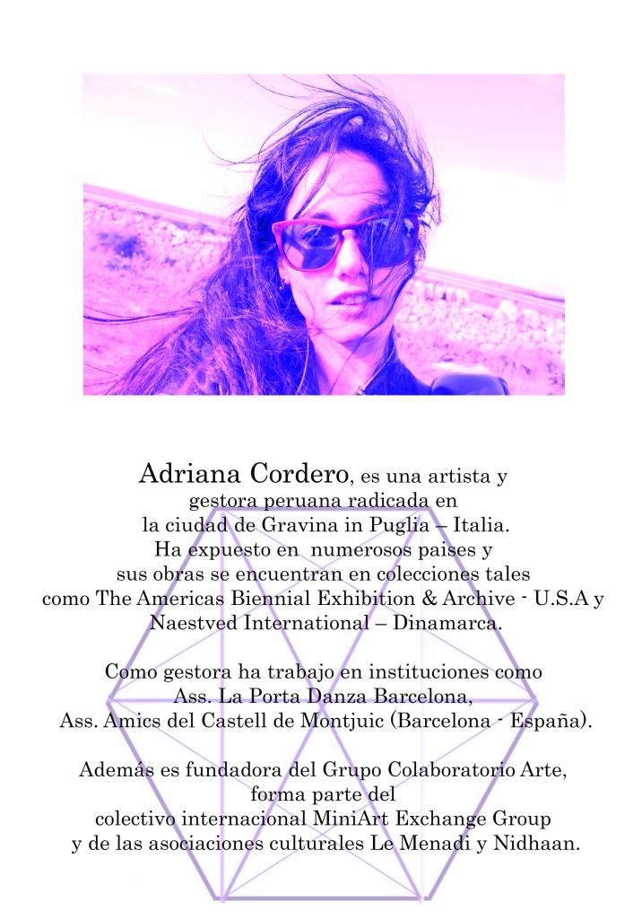 ADRIANA CORDERO - COLABORATORIO ARTE II