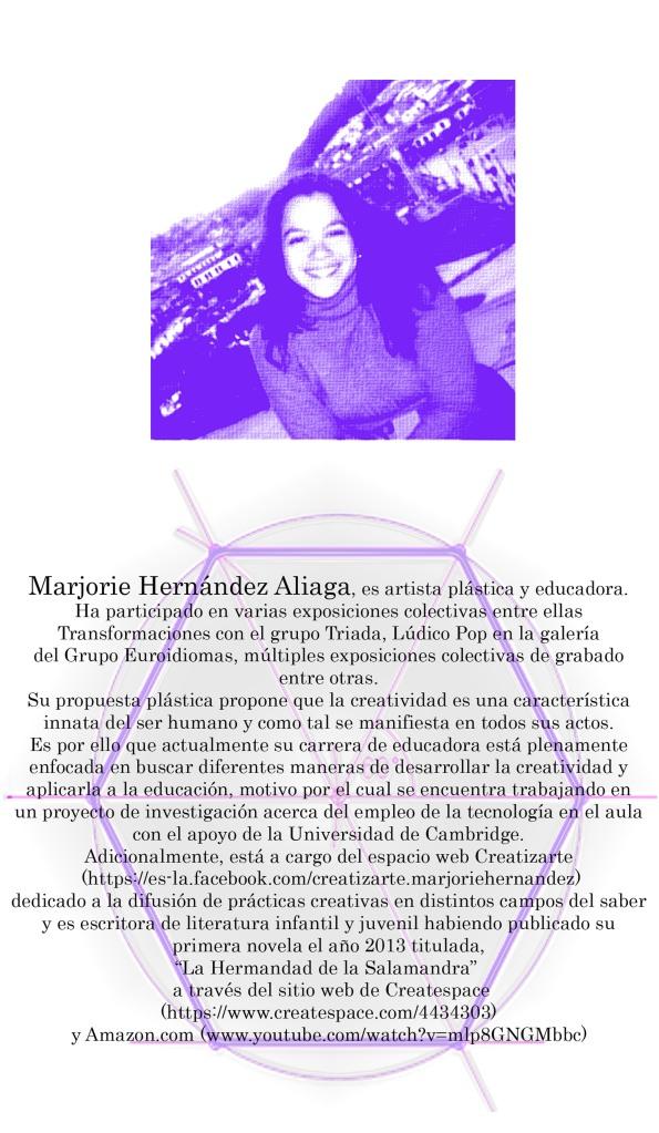 MARJORIE HERNANDEZ ALIAGA - COLABORATORIO ARTE I
