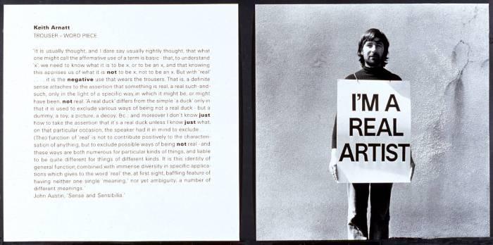 Trouser - Word Piece 1972-1989 by Keith Arnatt 1930-2008